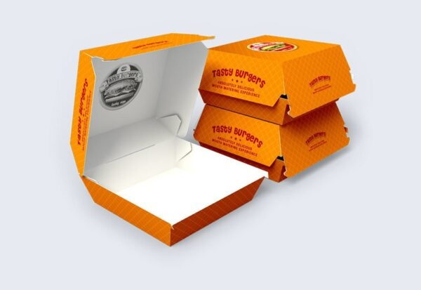Custom Printed Burger Boxes