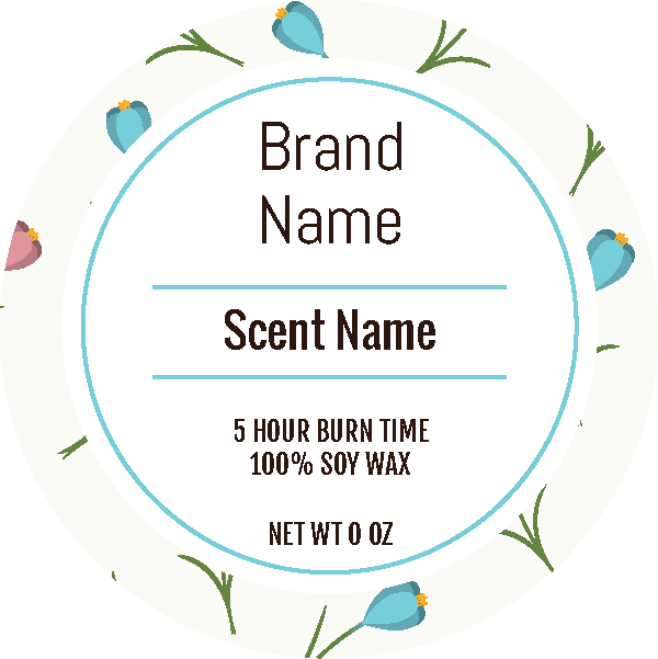 customized candle labels